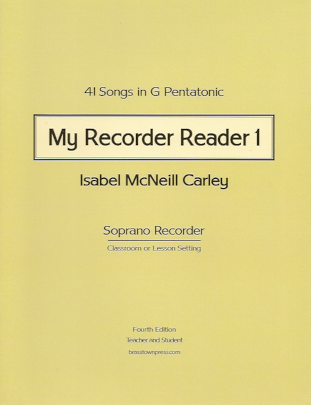 My Recorder Reader 1<br>Isabel McNeill Carley